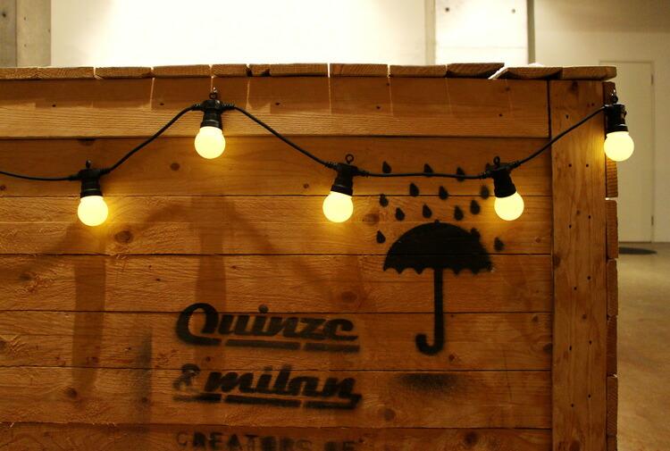 ガーランドライト LEDストリングライト ケーブルライト トランスフォーマー(電池ボックスタイプ) 屋外可 DETAIL インテリア 照明 アメリカ雑貨