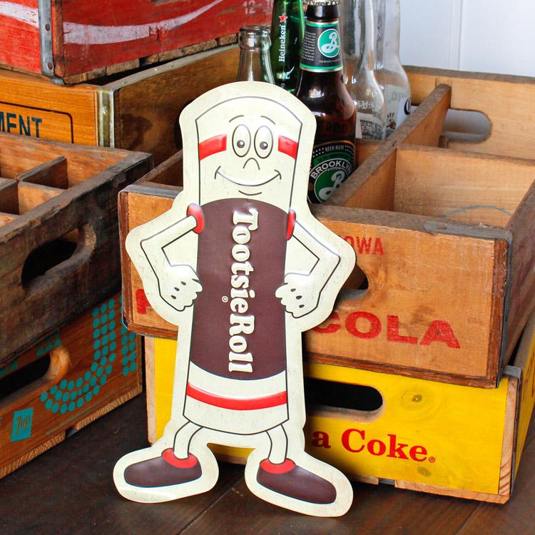 ダイカットメタルサイン Tootie Roll 2 トッツィーロール マスコット 縦32×横19cm ブリキ看板 インテリア アメリカ雑貨 アメリカン雑貨