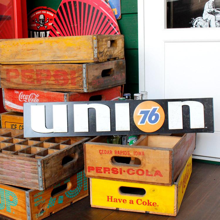 ダイカットメタルサイン UNION 76 ユニオン 76 縦13×横68cm ブリキ看板 インテリア アメリカ雑貨 アメリカン雑貨