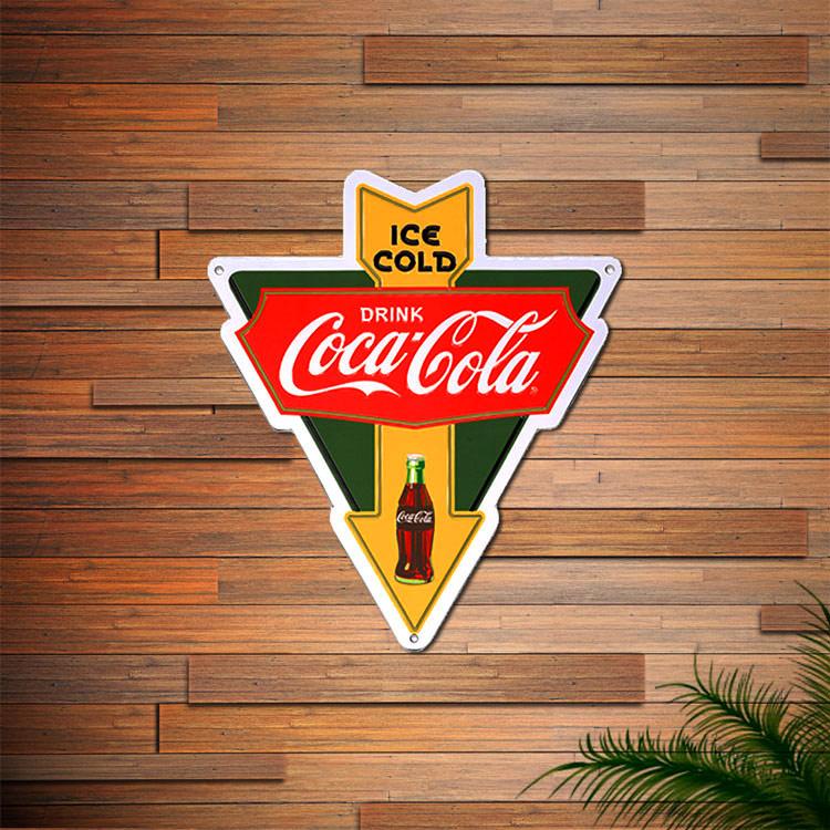 看板 コカ・コーラ ティンプレート (Arrow) PJ-SD01 縦35×横30.5cm ブリキ看板 アメリカン雑貨