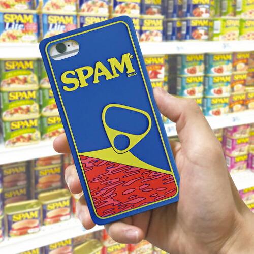 iPhone7/iPhone8用 スマホケース SPAM スパム シリコンケース 携帯ケース ランチョンミート メリカン雑貨 アメリカ雑貨