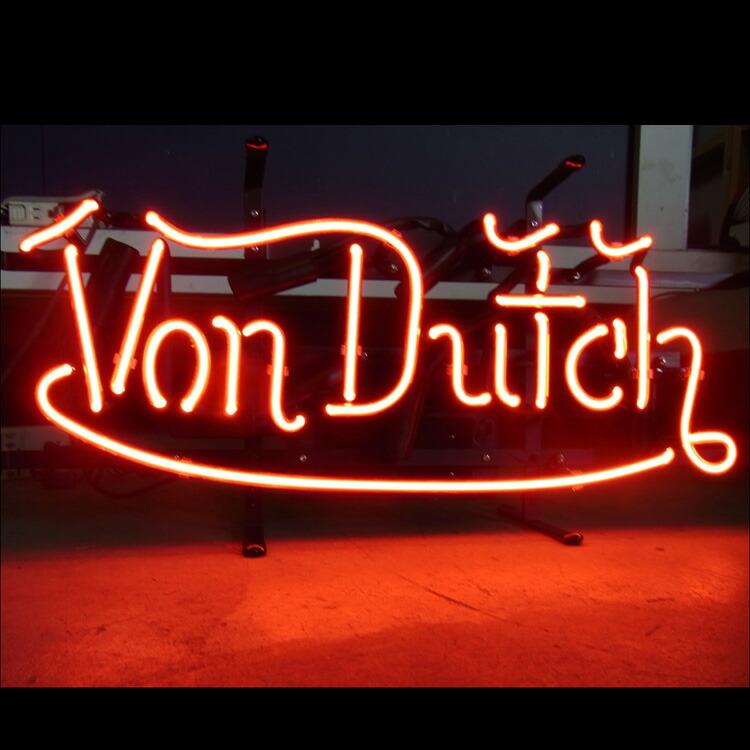 アメリカンネオンサイン <VON DUTCH LOGO/ヴォンダッチ ロゴ)>サイズ:18×48cm
