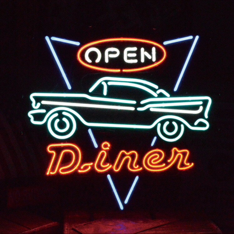 アメリカンネオンサイン <DINER OPEN/ダイナー オープン>サイズ:55×60cm