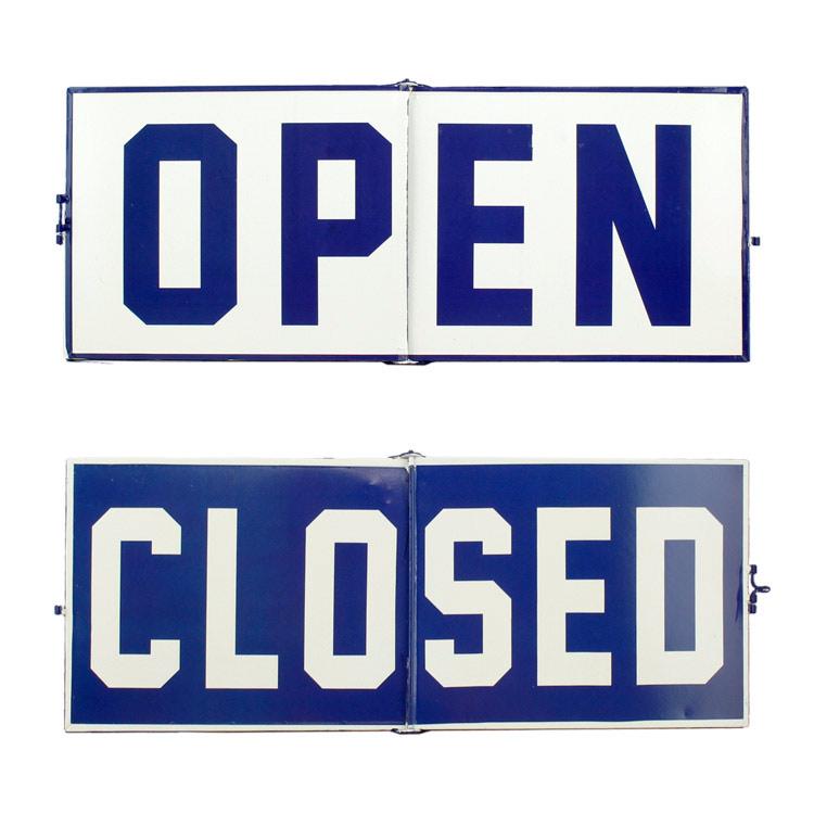 看板 フリップサイン「Open / Close」サイン HFT-329 H20×W50.5cm スチール製 店舗看板 アメリカン雑貨