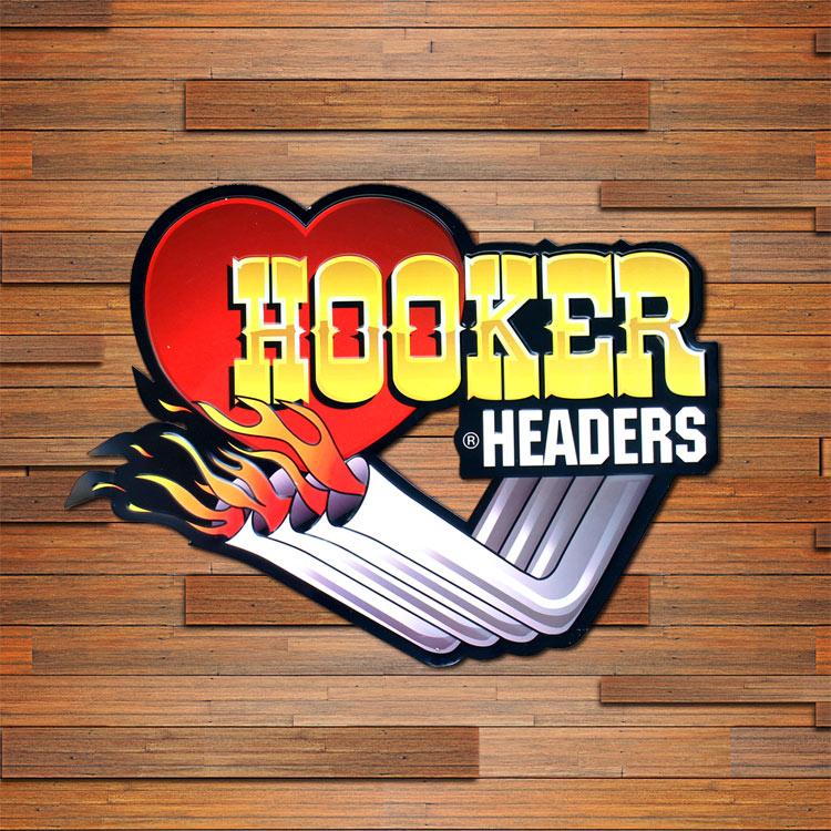看板 USエンボスサイン HOOKER HEADERS 縦33×横45cm メタルサイン インテリア アメリカン雑貨