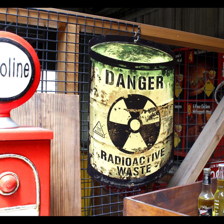 看板 アメリカンスティールサイン「Radioactive Barrel」 PS-265 インテリア DENGER 店舗 アメリカン雑貨