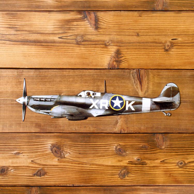 看板 スティールサイン Spitfire PS-139 縦16.5×幅61.5cm スチール製 スピットファイヤー 戦闘機 店舗看板 アメリカン雑貨