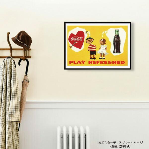 ポスター おしゃれ コカコーラ 「Boy & Girl」 PO-C19 COCA-COLA 72.8×51.5cm B2 インテリア アメリカ雑貨 アメリカン雑貨