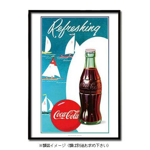 ポスター おしゃれ コカコーラ 「Boat」 PO-C27 COCA-COLA 72.8×51.5cm B2 インテリア アメリカ雑貨 アメリカン雑貨