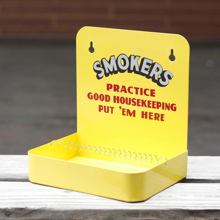 灰皿 スモーカーズアッシュトレイ (イエロー) SMOKERS ASHTRAY 小物収納 トレイ アメリカ雑貨 アメリカン雑貨