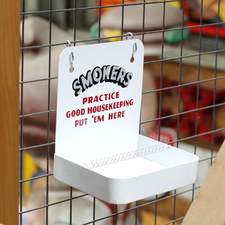 灰皿 スモーカーズアッシュトレイ (ホワイト) SMOKERS ASHTRAY 小物収納 トレイ アメリカ雑貨 アメリカン雑貨