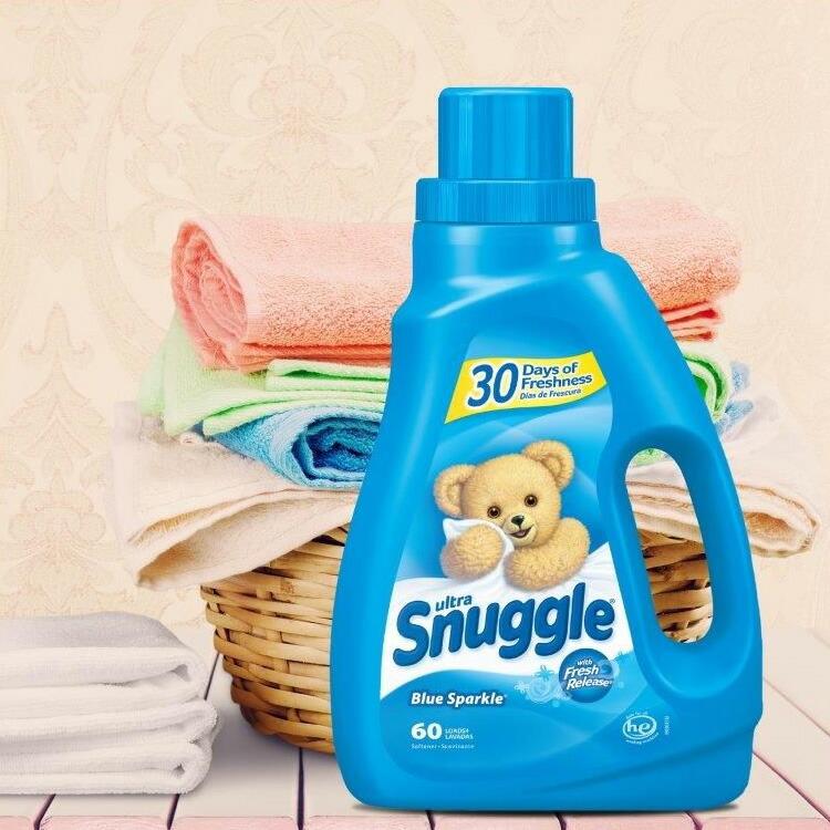 衣類用柔軟剤 Snuggle スナッグル柔軟剤 ブルースパークル 50oz / 1470ml 約60回分 輸入柔軟剤 日用品 アメリカ製 アメリカ雑貨