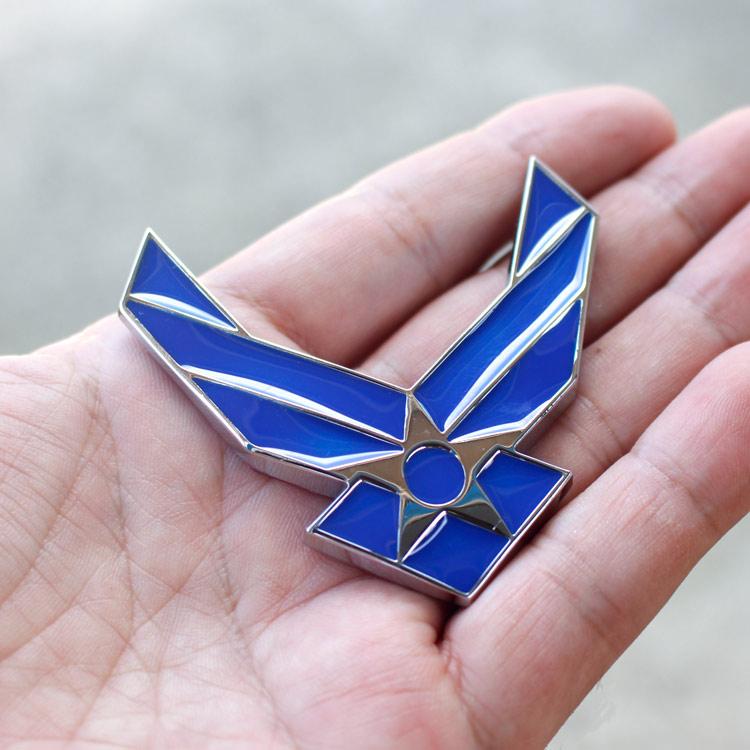 3Dエンブレムステッカー 「US AIR FORCE」 USエアフォース カーアクセサリー 立体ステッカー クルマ アメリカ雑貨 アメリカン雑貨