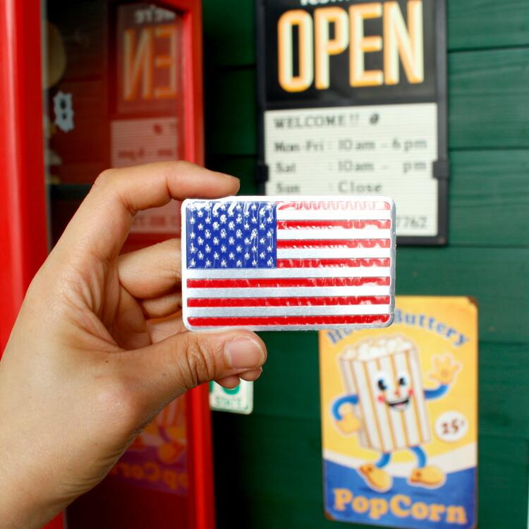 ステッカー 車 シール アルミステッカー USAフラッグ アメリカ国旗 縦5×横8cm 星条旗 カーアクセサリー アメリカン雑貨