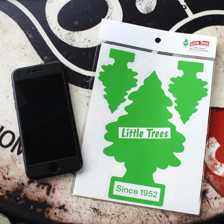 転写シール リトルツリー カットアウトステッカー SET-1 グリーン Little Trees 蒔絵シール アメリカ雑貨 アメリカン雑貨
