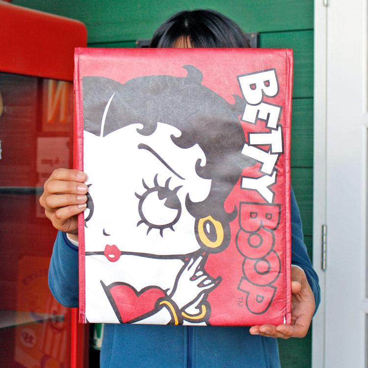 クラフト クラッチバッグ ベティちゃん BETTY 01 PCバッグ タブレットケース タイベック風素材 アメリカ雑貨 アメリカン雑貨