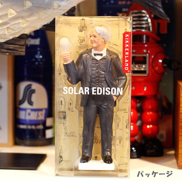 キッカーランド ソーラー エジソン KIKKERLAND Solar EDISON 人形 フィギュア インテリア LEDライ