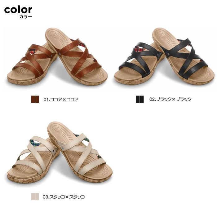 crocs【クロックス】 A-Leigh Mini Wedge Leather/アレイ ミニ ウェッジ レザー