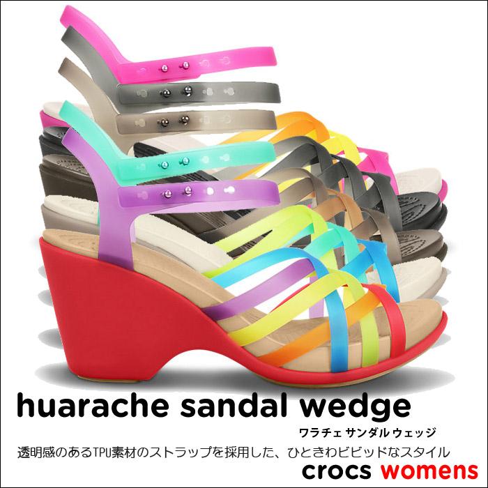 crocs【クロックス】HuaracheSandalWedge/ワラチェサンダルウェッジ※※