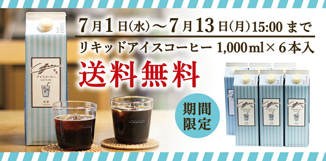 リキッドアイスコーヒー6本入送料無料