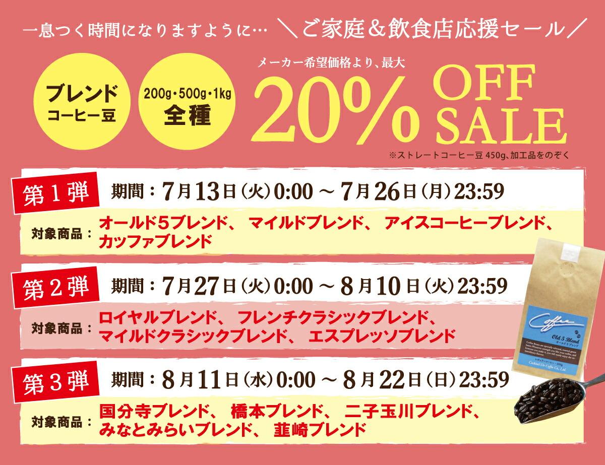 【SALE★第二弾 <7/27~8/10>】ブレンドコーヒー4種