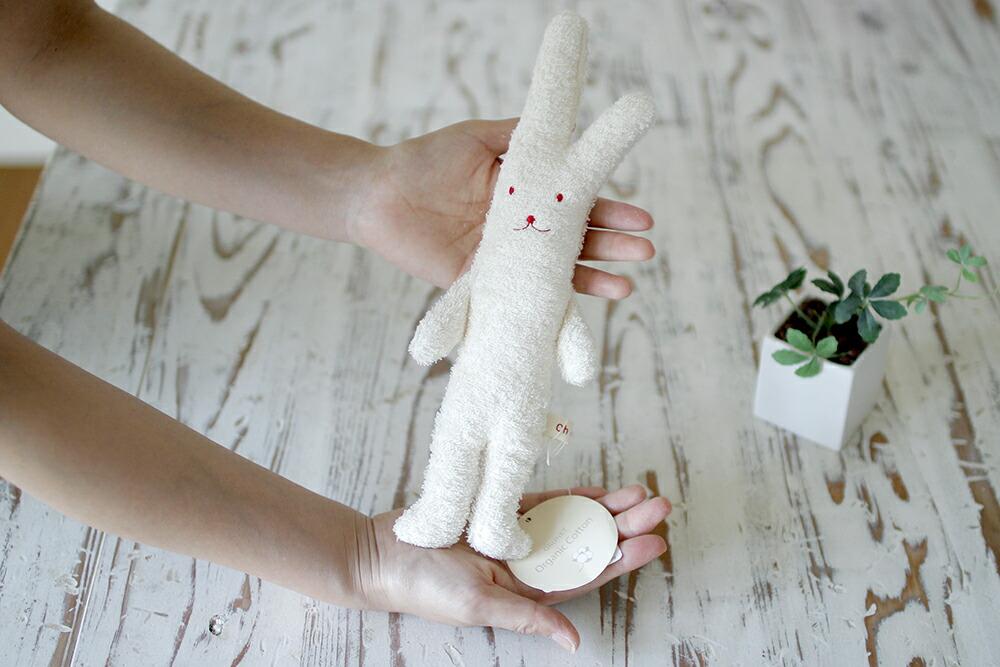 オーガニックコットンパイルを使用したウサギ