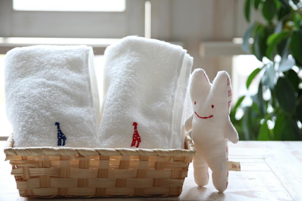 フェイスタオルとウサギ