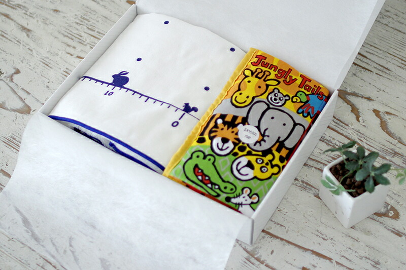 ガーゼケットと遊べる布絵本のセット