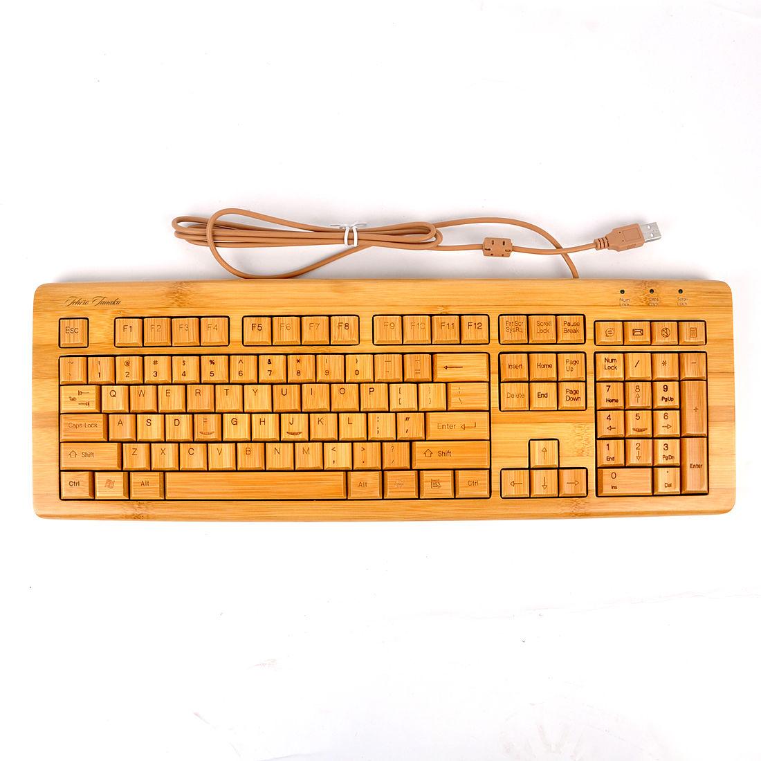 楽天市場 lifesign名入れ無料 生活用品 竹製キーボード usb接続 有線
