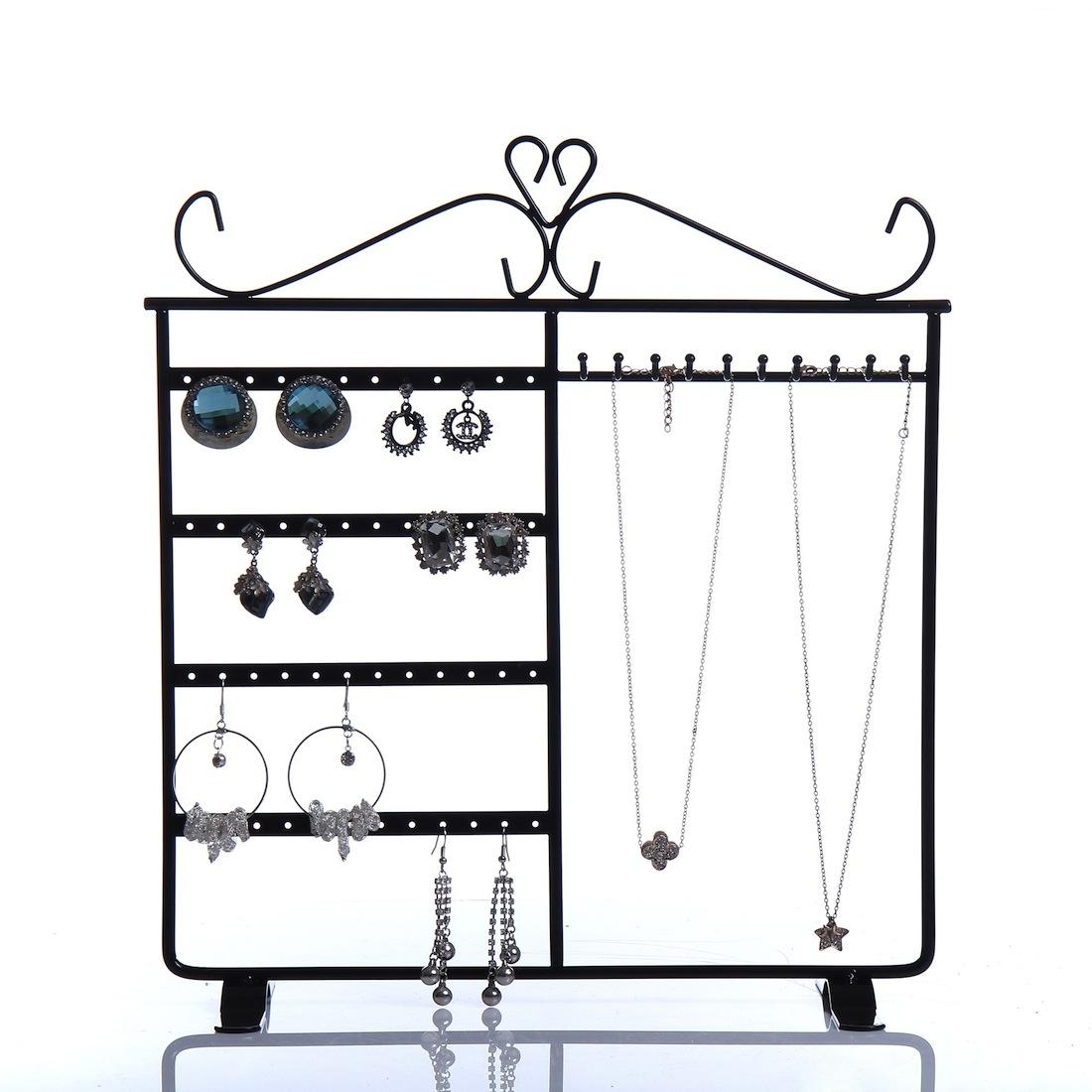 ピアス、ネックレスの両方を収納できるアクセサリースタンドです。 お家のアクセサリーの整理やお店での展示など幅広くご利用いただけます。
