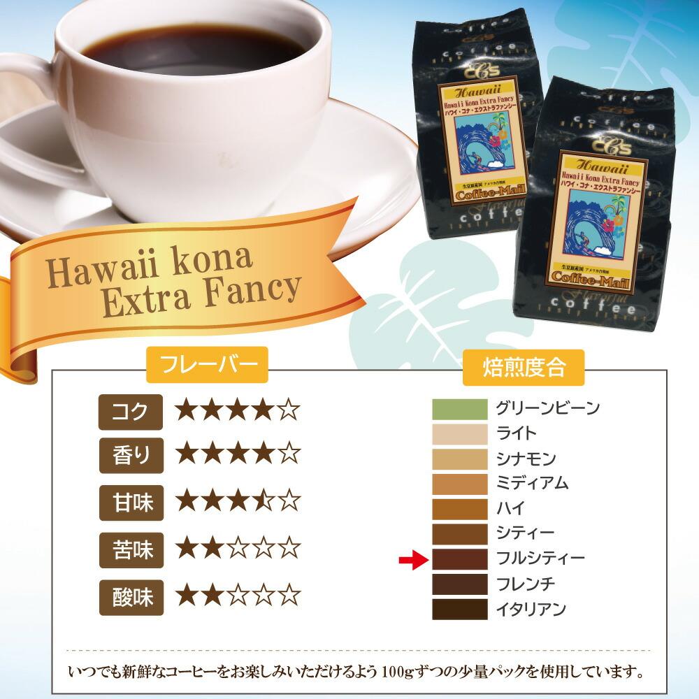 ハワイコナエクストラファンシーコーヒー