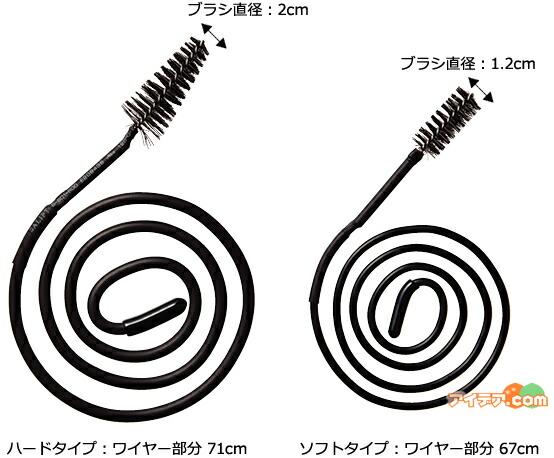 ハードタイプ:ワイヤー部分 71cm ソフトタイプ:ワイヤー部分 67cm