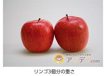 リンゴ3個分の重さ