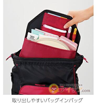 取り出しやすいバッグインバッグ