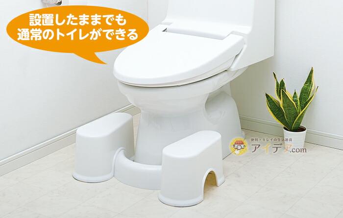 設置したままでも通常のトイレができる