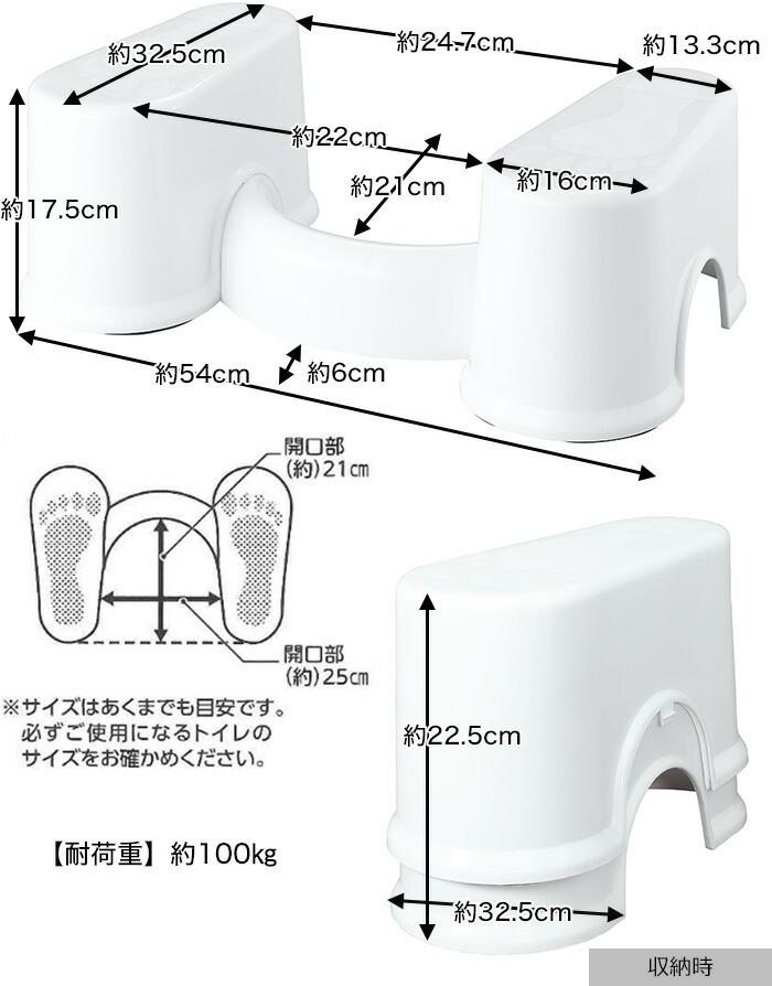 使用時:54×32.5×17.5 cm 収納時:16×32.5×22.5 cm