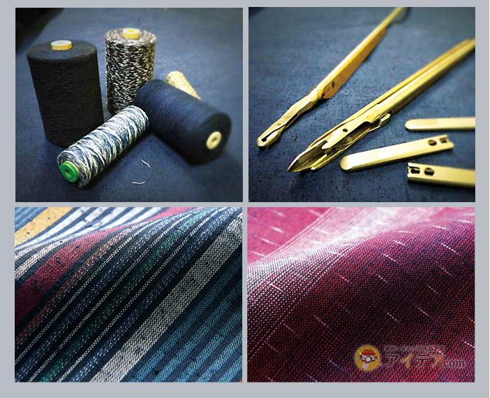 染色糸を使用した、伝統の久留米織。