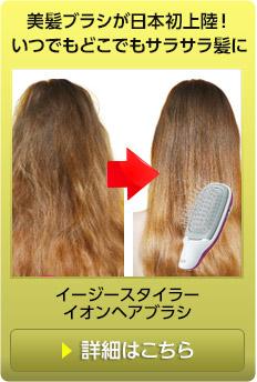 美髪ケアにイージースタイラーイオンヘアブラシ