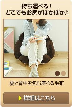 腰と背中を包む座れる毛布