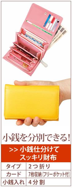 小銭仕分けてスッキリ財布