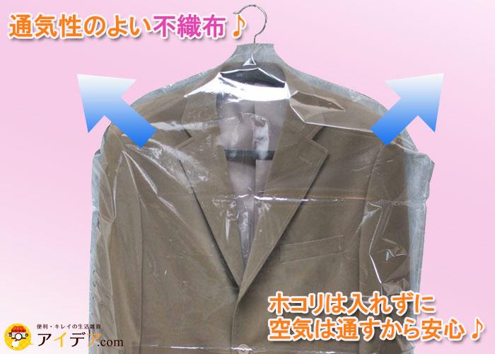 通気性の良い不織布を使用。ホコリは入れずに空気は通すから安心!