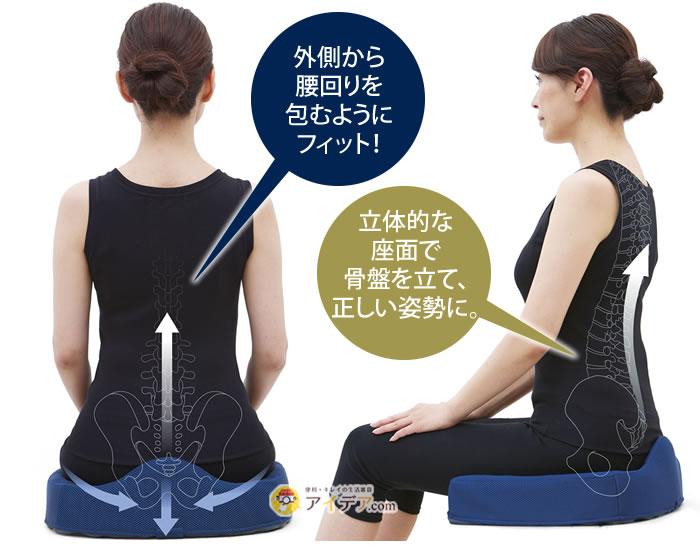 腰痛対策クッション:特徴