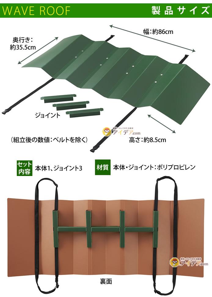 エアコン室外機遮熱ウェーブルーフ:製品サイズ