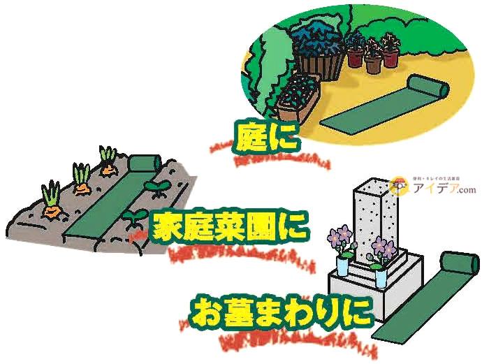 手間いらず雑草防止シート:庭に 家庭菜園に お墓まわりに