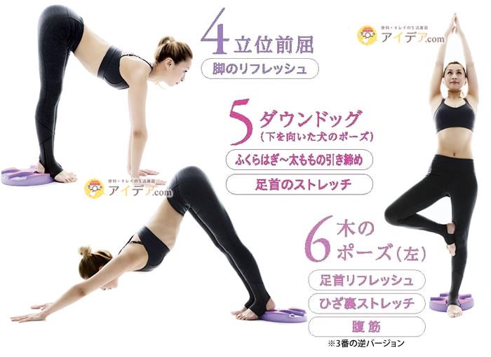 ayayoga 6ステップヨガマット:エクササイズ