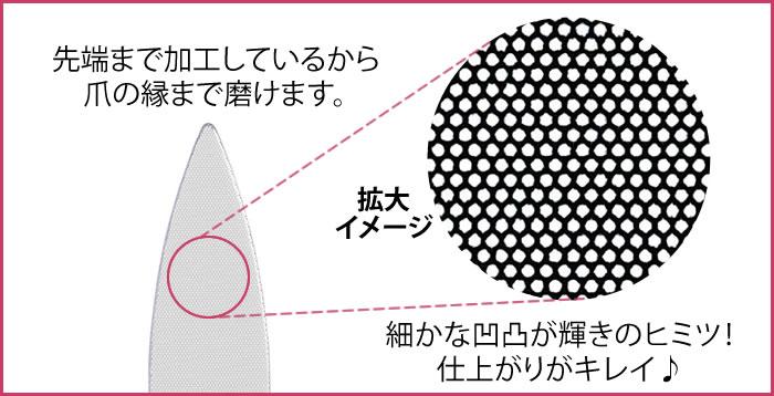 ワンステップ爪磨きファイル:ヤスリとしても使用できるので、爪の形状を整えるにも便利