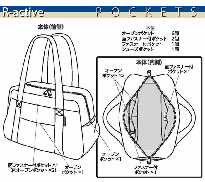 R-activeスマートキルトバッグ:ポケット