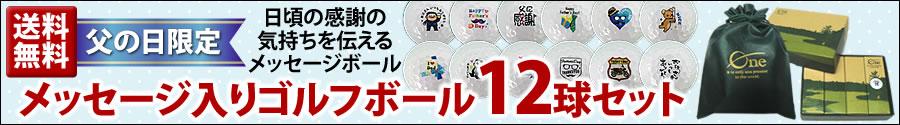 【父の日限定】メッセージ入りゴルフボール12球セット(送料無料)