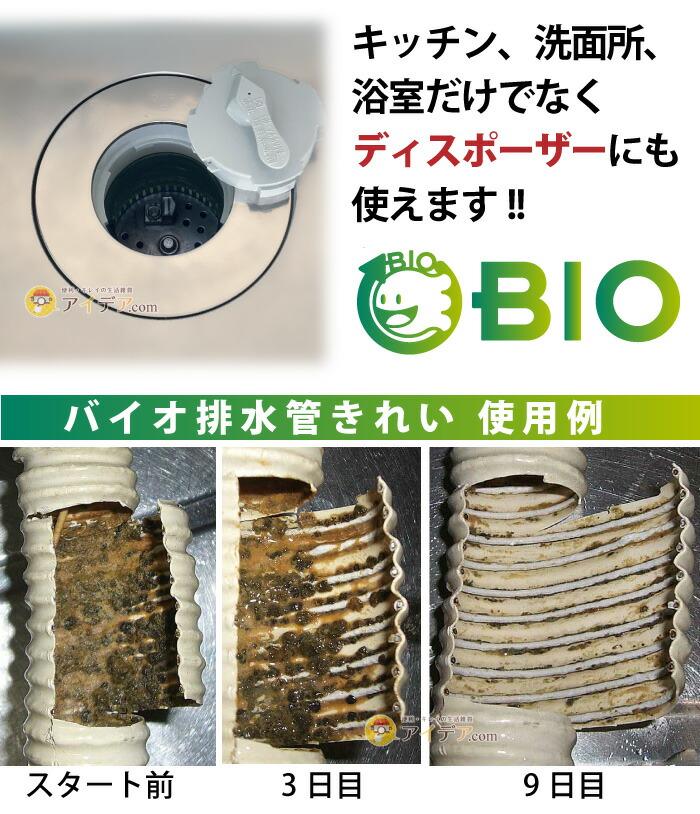 バイオ排水管きれい 詰め替え用:使用例