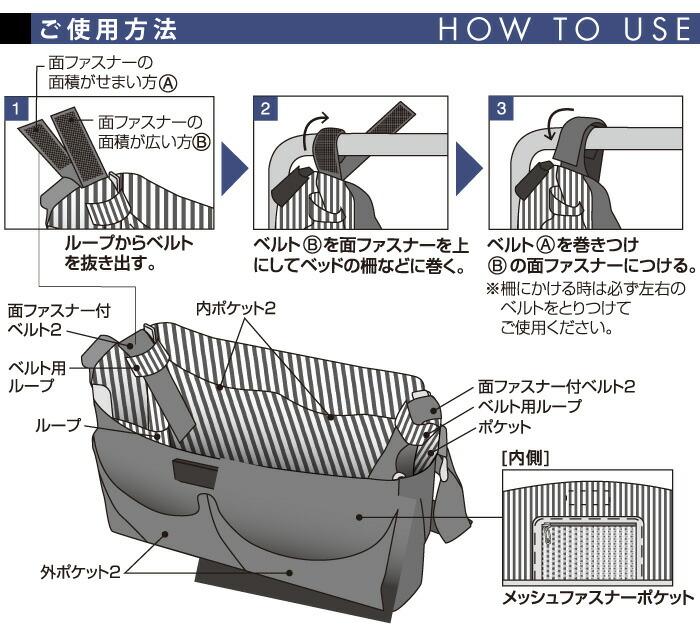 大事な物これ一つ!入院バッグ:ご使用方法